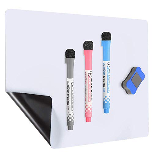 - Magnetic Dry Erase Board For Refrigerator - 18x12