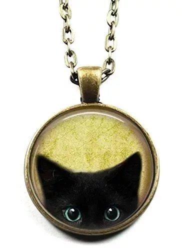 black-cat-necklace-peeking-black-cat-pendant-cute-black-cat-jewelry