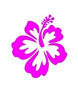 Amazon hibiscus flower hawaiian car truck notebook vinyl bumper stickers decals magnets mightylinksfo