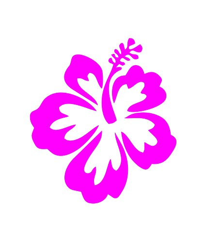 HIBISCUS FLOWER - Hawaiian - Car, Truck, Notebook, Vinyl Decal Sticker #1019   Vinyl Color: Pink