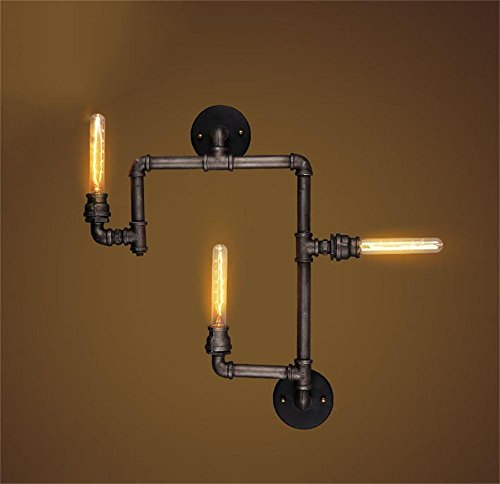HOMEE Wall lamp- american retro style wall light industry bar café music bar corridors aisle iron water wall light --wall lighting decorations by HOMEE