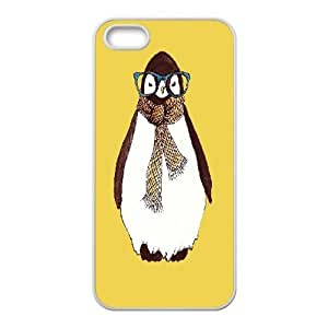 Case For Htc One M9 Cover , Hipster Penguin Print Case For Htc One M9 Cover , White
