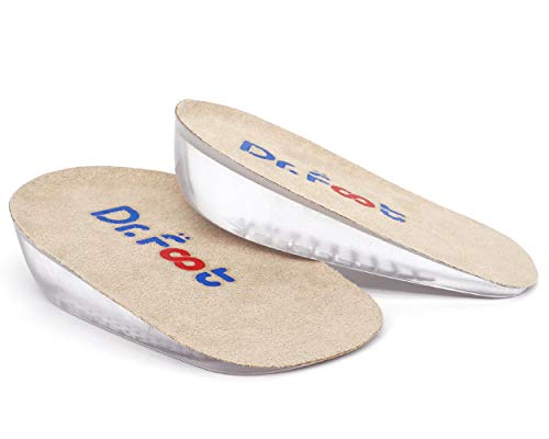 Height Increase Insoles - Dr. Foot's Height Increase Insoles, Heel Cushion Inserts, Heel Lift Inserts for Leg Length Discrepancies (Small (1