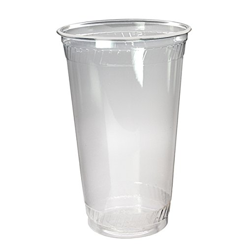 Clear Plastic Cups With Lids : Dayship premium plastic clear pet cups with flat lids
