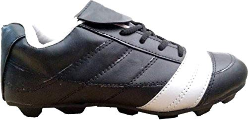 080c92cc9e2efc SanR Men s Black Messi Football Sports Cleats Boots Studs Shoe (4)  Buy  Online at Low Prices in India - Amazon.in