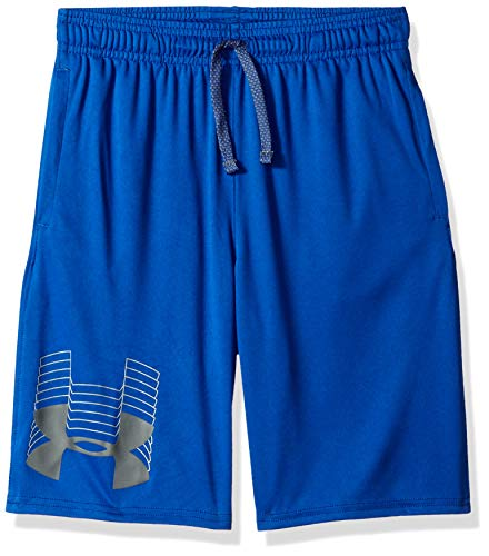 Under Armour Boys' Prototype Logo Short, Royal (400)/Graphite, Youth Large