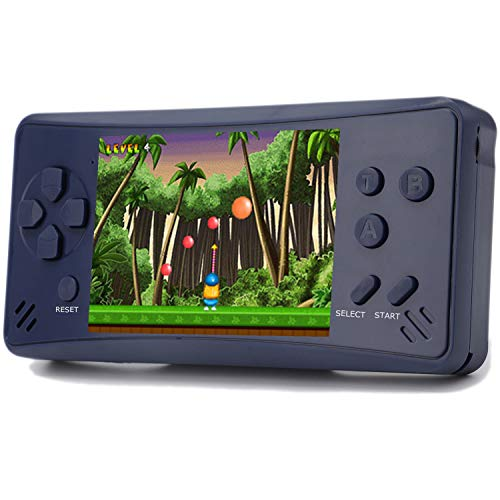 3.5 Inch Game - Haopapa Retro Plus Handheld Game Console Portable Video Games Player Built-in 218 Classic Games 3.5 Inch LCD Big Screen Li-ion USB Charge TV Output Arcade Gaming System Gifts for Kids Adults -Blue