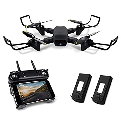 Kyerivs Foldable Drone with Camera Live Video, FPV WiFi Quadcopter with Double 720P HD Cameras + Spare Battery - Altitude Hold, One Key Take Off/Landing, 360° Flip, APP Control from Kyerivs
