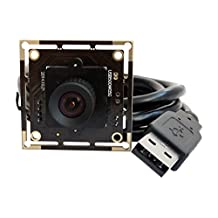 ELP 5 Megapixel HD Usb Module Camera with Wide Angle None distortion 100 Degree Lens for Security&Surveillance (FD 100 degree)