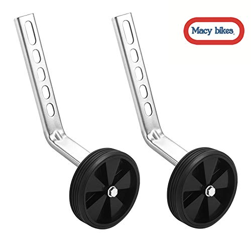Macy Training Wheels for Children's Bicycle stabiliser(for 12 14 16 18 20 inch Bike) (5Black) ()