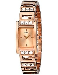 Guess Women's U0200L1 Rose-Gold Stainless-Steel Quartz Watch with Rose-Gold Dial