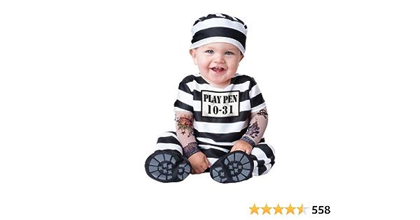 CUTEST SOFT Jail Prisoner Babies Toddler Costume Halloween For Baby Boy Jumpsuit