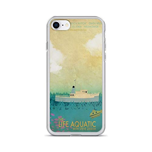 iPhone 7 Case iPhone 8 Case Clear Anti-Scratch Shock Absorption The Life Aquatic Film Poster, The Life Aquatic Cover Phone Cases for iPhone 7/iPhone 8 -