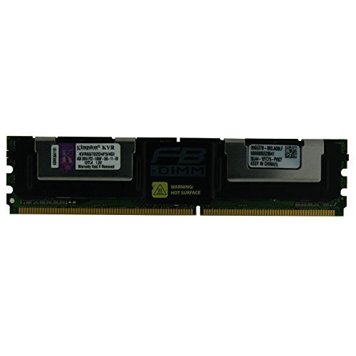 Kingston 4GB KVR667D2D4F5/4GI FB-DIMM DDR2 240-Pin ECC Fully Buffered DDR2 667 2RX4 Server Memory - Pro Ddr2 667 Fully Buffered