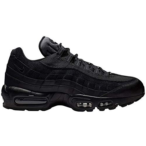 Nike Mens Air Max 95 Essential Leather Textile Black Anthracite White Trainers 10 US