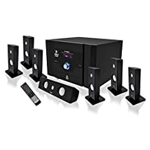 Pyle-Home 7.1 Channel Home Theater System with Satellite Speakers, Center Channel, Subwoofer and Bluetooth PT798SBA