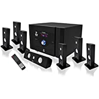 Pyle PT798SBA 7.1 Channel Home Theater System with Satellite Bocinas, Center Channel, Subwoofer and Bluetooth