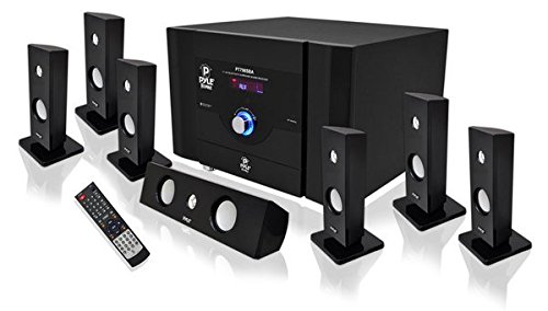 Pyle PT798SBA 7.1 Channel Home Theater System with Satellite Speakers, Center Channel, Subwoofer and...