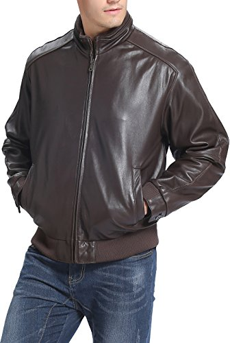 leather jacket extra tall men - 5