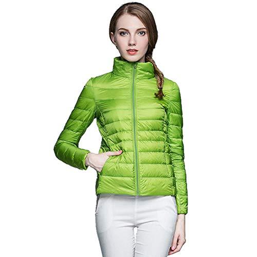 Sijux De Outwear Abrigo Chaqueta Down Puffer Para Invierno Green Ultraligera Cálido Casual Mujer wHx1qRgw