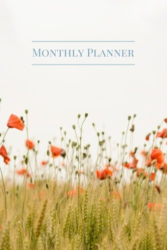 Monthly Planner  Small Undated Monthly Floral Planner Organizer