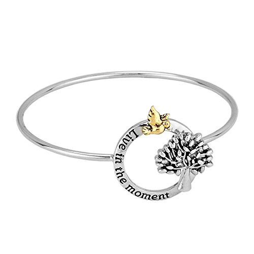 Girl Scout Costume Ideas (Rosemarie Collections Women's Live in the Moment Bangle Bracelet)