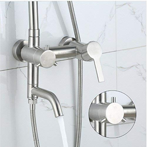 Junson Shower System, Shower Mixer Set Shower Shower Copper Concealed Lifting Third Bathroom Shower
