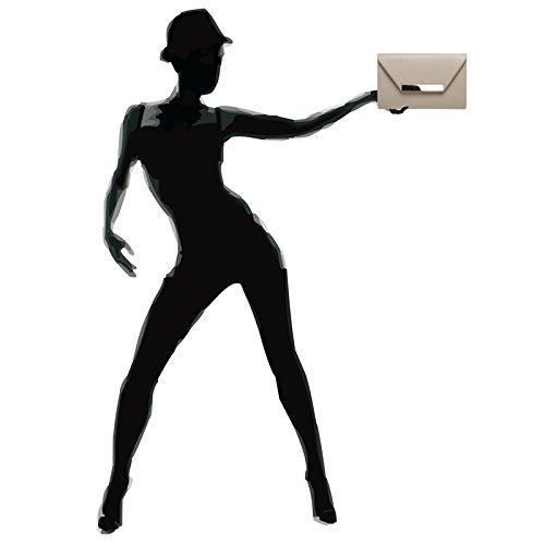 Fashion Taupe Pochette femme CASPAR pour 8gC1q1B