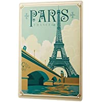 qidushop World Tour Paris - Letrero de Aluminio