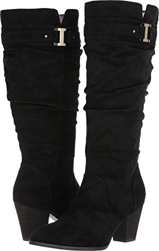 Dr. Scholl's Women's Devote Wide Calf Riding Boot, Black, 9 M US