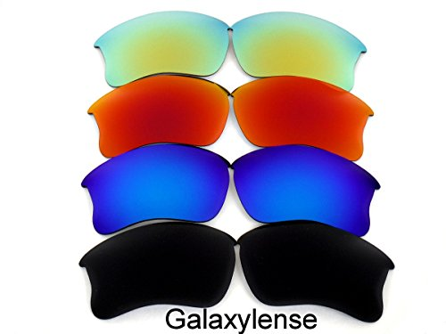 Replacement Lenses For Oakley Flak Jacket XLJ Polarized Black&Blue&Red&Gold - Red Jacket And Black Oakley Flak