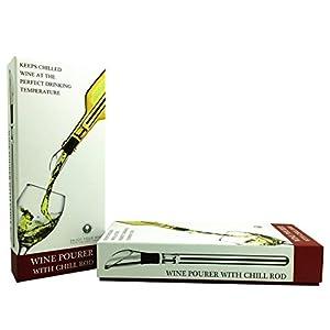 DOB Wine Pourer Wine Aerator Wine Chiller Stick Stainless Steel Wine Aerator Pourer Spout
