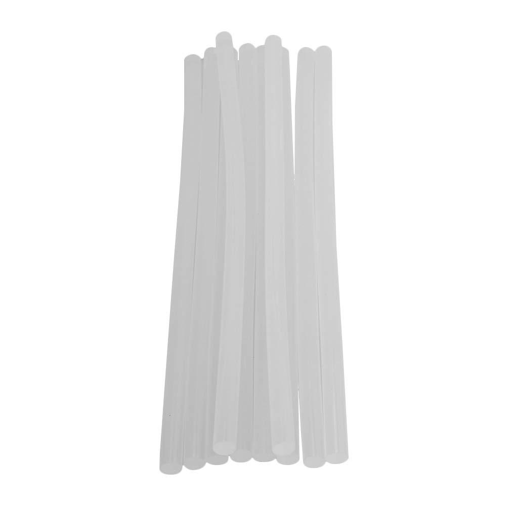 CNBTR 100# 0.4'' Diameter White Clear Hot Melt Glue Stick for 60W 100W 150W 300W Glue Gun Pack of 10