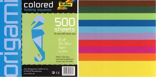 Amazon Square Colored 8 By 8 Inch Origami Paper 500 Sheets