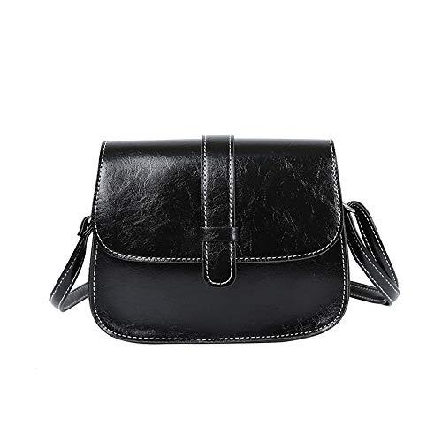 - LONGDAY  Women Crossbody Bags Leather Bag Ladies Purse Summer Vintage Retro Girls Handbag Chain Bag Messenger Bags Black