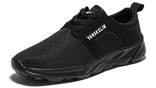 VANSKELIN Men Shoes Sneakers Mesh Lightweight Running Shoes Outdoor Breathable Athletic Sport Shoes (8 D(M) US/41 M EU, Black)