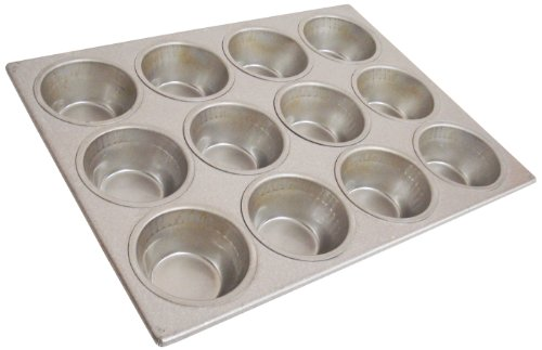50 22-Gauge Aluminized Steel Pecan Roll Muffin Pan, 3-11/16