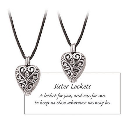 Sisters Heart Prayer Locket Set - Locket Prayer