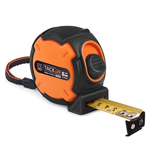 Tacklife Measuring Tape TM-B03 Tape Measure 26-Foot(8m) Tape Ruler Metric and Inches Measuring Tape with Magnetic Hook, Nylon Coating, Wrist Strap for Construction, Home, Carpentry Measurement by TACKLIFE
