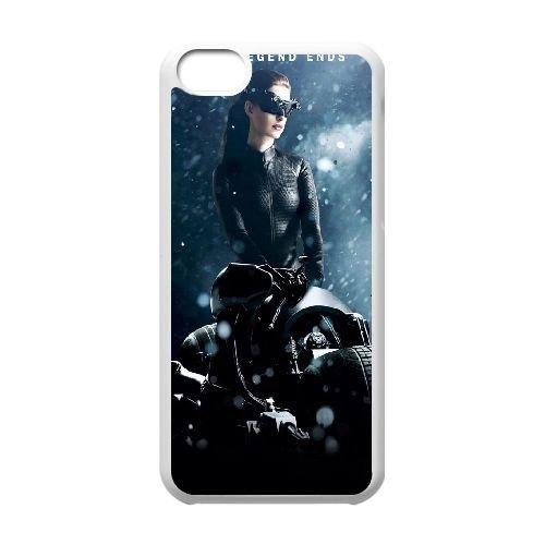 X3P19 Catwoman The Dark Knight Rises cas de téléphone E7Z9UP coque iPhone 5c cellulaire couverture coque FR5EBK6ES blancs