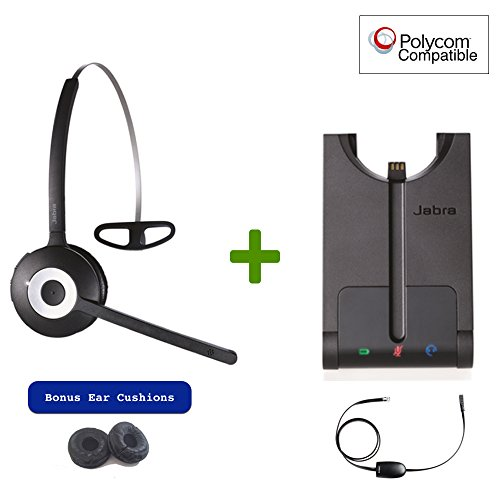 Polycom Compatible Jabra PRO 920 Wireless Headset Bundle wit