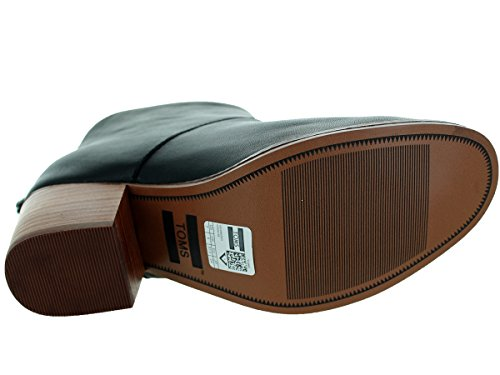 TOMS Womens Leila Boot Black Full Grain Leather wLX5D