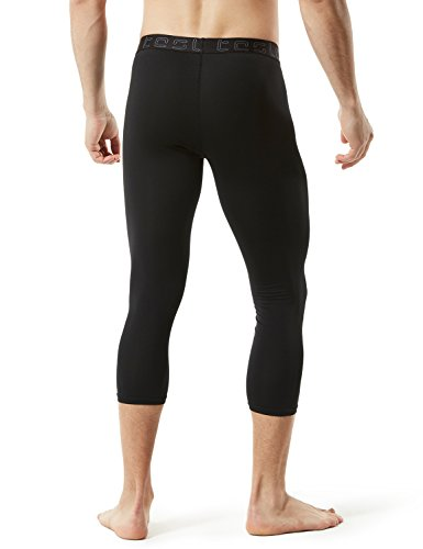 2a8c14ec24 TSLA Men's Compression 3/4 Capri Pants Baselayer Cool Dry Sports Running  Yoga Tights