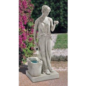 "37.5"" Greek Hebe Goddess of Youth Garden Fountain Statue Sculpture Figurine"