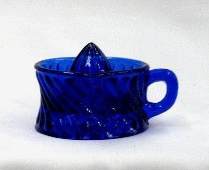 Blue Depression Glass Juicer Reamer