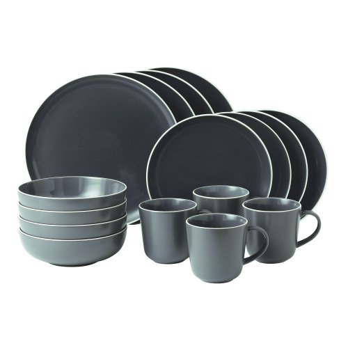 Gordon Ramsay 16-Piece Bread Street Dinnerware Set Slate  sc 1 st  Amazon.com & Contemporary Dinnerware Sets: Amazon.com