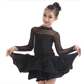 Vestido de Baile Latino para niños, Traje de Samba de Rumba ...