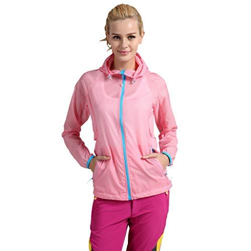 Tech Cropped Jacket Outerwear - yiqianzhaobiao_Jacket Men's Hooded Lightweight Windbreaker Jacket Water YQZB Zipper Waterproof Jackets Pink
