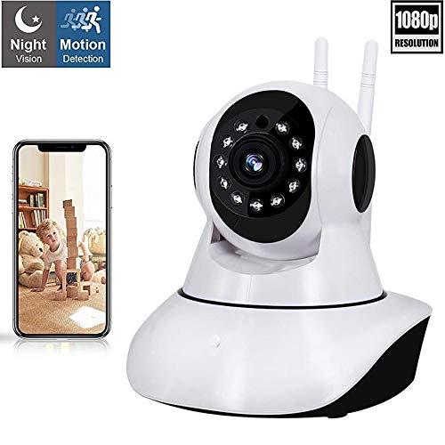 Camaras de seguridad wifi 360 Grados camara de vigilancia inalambrica camara ip HD 1080P wifi monitor de bebe, visión...