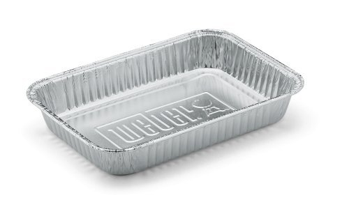 Weber 6415 Small 7-1/2-Inch-by-5-inch Aluminum Drip Pans, Set of (Jr Foil)